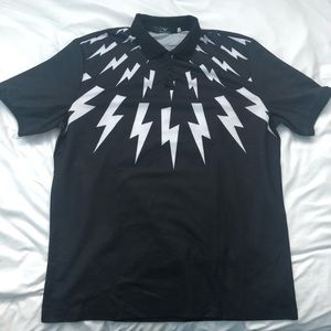 Other - Lightning Bolt Design Polo Shirt FITS LIKE XL